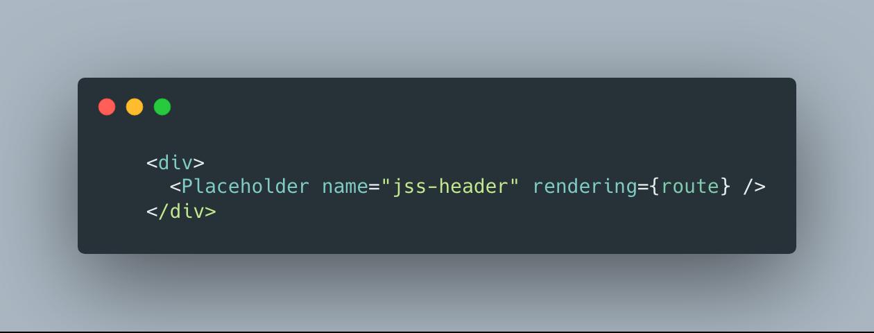 Sitecore JSS Header Placeholder