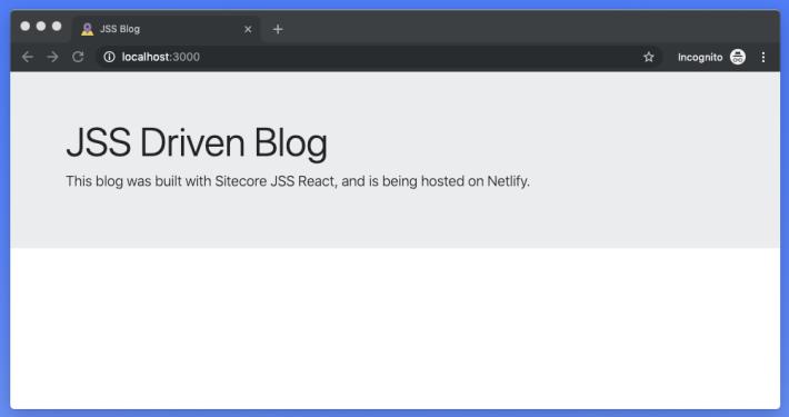 Sitecore JSS Blog