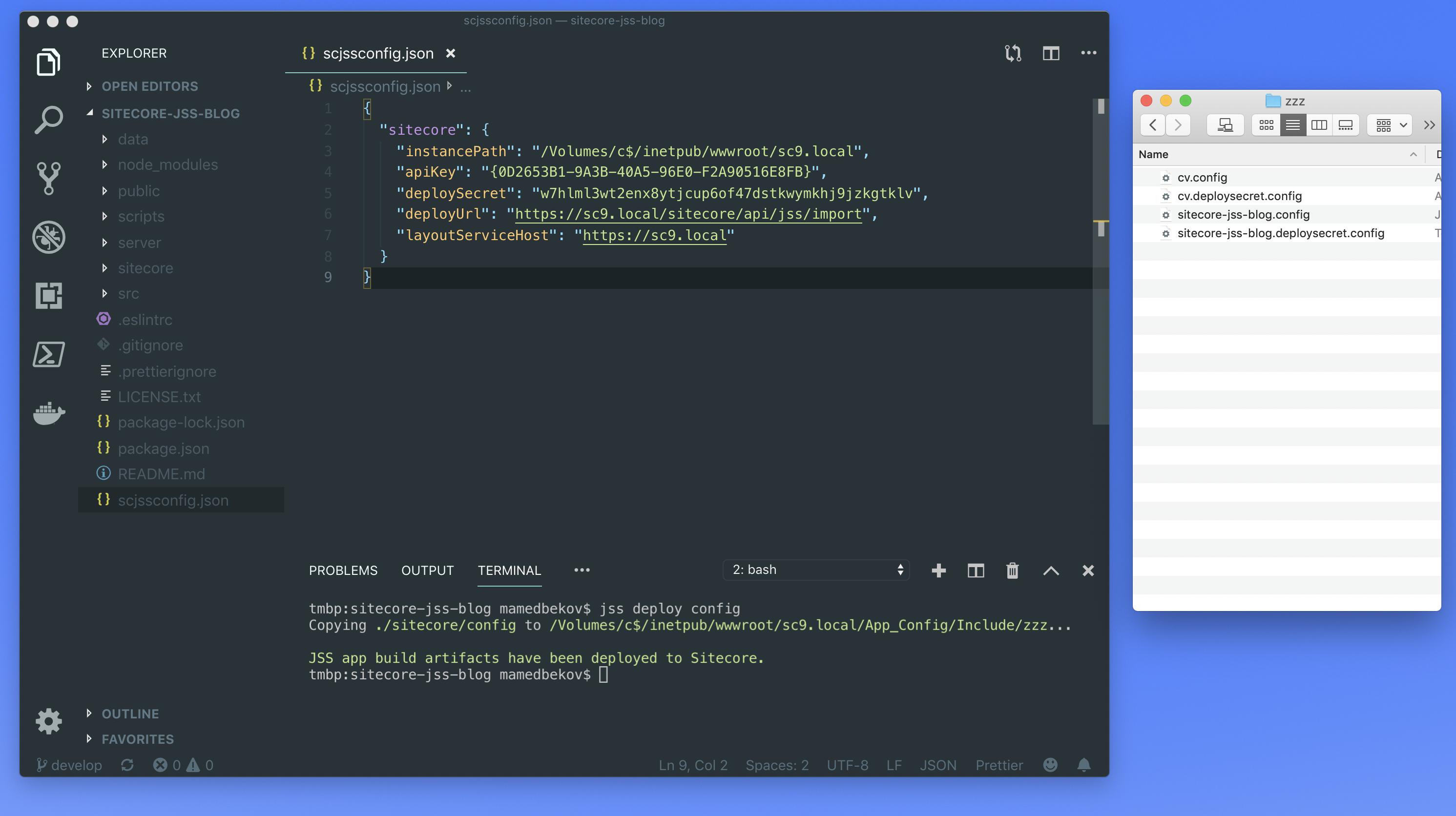 Sitecore JSS Configs