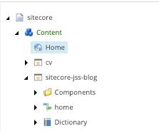 Sitecore Content Tree