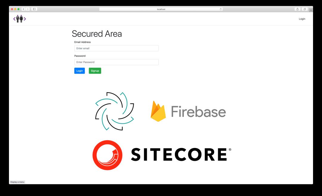 Sitecore JSS and Google Firebase